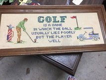 FRAMED -finger point golf picture in Macon, Georgia
