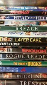 14 DVD movies at $2 each watched once in Camp Pendleton, California