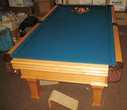 Vintage DYNAMO 8 Ft. Slate Pool Table - Excellent Condition in Naperville, Illinois