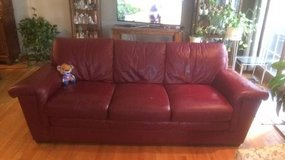 Red Leather Sofa in Naperville, Illinois
