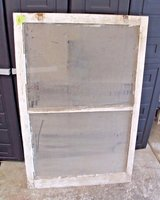 Antique 1930s Central Illinois Farmhouse Shabby Decor 2-Pane Window Chippy White in Lockport, Illinois