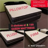 BRAND NEW! Queen Mattresses - 1 LOW PRICE - FIRM, MEDIUM OR SOFT in Bolingbrook, Illinois
