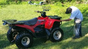 WTT my Kawasaki 400 4x4 4 wheeler for a PONTOON BOAT---WILL PAY CASH DIFFERENCE in Baytown, Texas