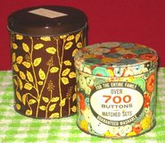 VINTAGE ASSORTED BUTTONS - 2 TINS in Elgin, Illinois