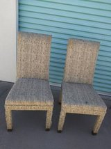2 chairs of unknown fabric - some type of animal hair? in Travis AFB, California