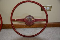 1953---CORVETTE ORIGINAL RED STEERING WHEEL in Elgin, Illinois