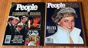 Lot of 2 People Weekly Goodbye Diana, Sept., 22 1997 Fall 1997 Tribute to Princess of Wales in Naperville, Illinois
