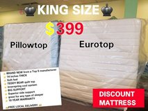 Brand New! KING MATTRESS CLOSEOUT! FREE DELIVERY! in Bolingbrook, Illinois