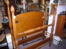 VINTAGE MAPLE SINGLE BED WITH RAILS in Camp Lejeune, North Carolina