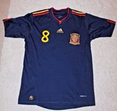 XAVI #8 -- Spain National Team Soccer Jersey, 2010 FIFA South Africa Logo in Naperville, Illinois