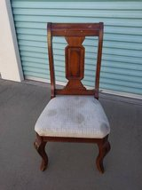 Chocolate Mahogany Art Deco Taupe  Chair in Travis AFB, California