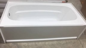 Delta Classic 400 5' Left Drain Soaking Tub - Small Outside Crack in Naperville, Illinois