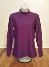 UNDER ARMOUR Womens Purple Long Sleeve Workout Yoga Turtle Neck Shirt Large in St. Charles, Illinois