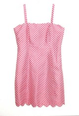 I Heart Ronson Soft PINK & While POLKA DOT Lined Sun Dress Womens 6 in Yorkville, Illinois