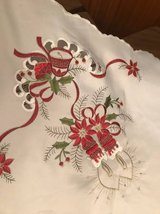 Beautiful Embroidered Holiday Table Cloth with 12 napkins in Naperville, Illinois