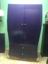 Purple Armoire Wardrobe w/ Silver Feet  |  Unique Disney Theme in Camp Pendleton, California