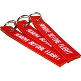 REMOVE BEFORE FLIGHT Embroidered Key Chain Tag in Fort Rucker, Alabama