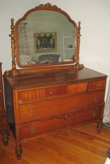 ANTIQUE KING-HAASE FURNITURE CO. - MIRROR DRESSER - Memphis, TN in Aurora, Illinois