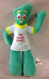 Vintage GUMBY I'm Back Baby Plush Stuffed Animal Doll Toy TV Show in Oswego, Illinois