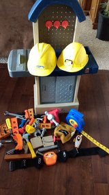 little tikes tool bench with extras in Fort Lewis, Washington