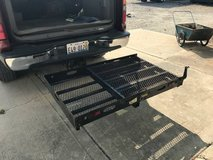 Carrier fits trailer hitch in Naperville, Illinois