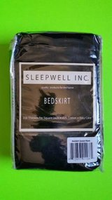 NEW! Sleepwell Inc. Bed Skirt Queen Size 100% Cotton - Black in Tacoma, Washington