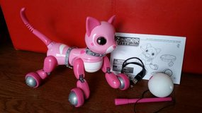 Zoomer Kitty in Pink + Kitty Toy + USB Charging Cable + Owner's Manual in Tacoma, Washington