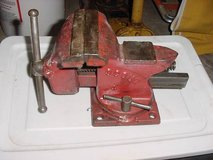 """Vintage Scout 4"""" Swivel Base Bench Vise MADE IN THE USA in Tinley Park, Illinois"""