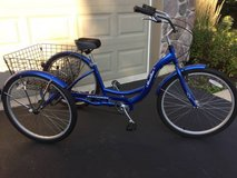 Schwinn Meridian Adult 26-Inch 3-Wheel Bike (Blue) in Naperville, Illinois