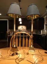 2 solid brass candlestick lamps in Naperville, Illinois