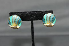 vintage pierced earrings shades of blue and teal in Houston, Texas