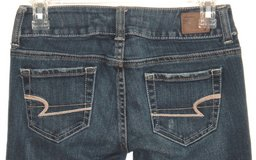 American Eagle ARTIST Lightly Distressed Boot Cut Jeans Womens 00S 00 Short in Morris, Illinois