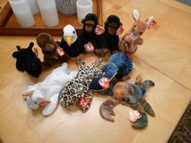 TY Beanie Babies Lot of 10 Like New Condition in Naperville, Illinois