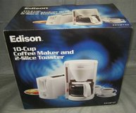 Edison 10-Cup Coffee Maker & 2-Slice Toaster - NIB in Chicago, Illinois