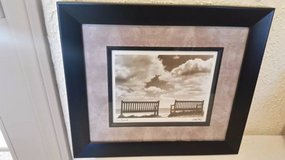 """New black frame wall print titled """"Two Friends"""" in Camp Pendleton, California"""