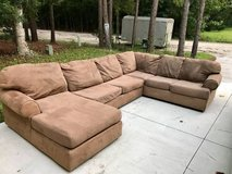 Tan Neutral 3 Piece Sectional Couch in Camp Lejeune, North Carolina