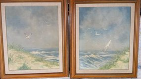 Vintage pre 1968 Thomas Pell Seascapes 2pc in Yucca Valley, California