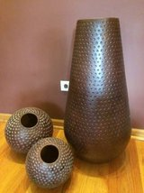 3 piece Ceramic floor vases in Joliet, Illinois
