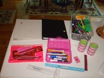 SCHOOL SUPPLIES  Pens Pencils Markers Binders Erasers Rulers Holders in Brookfield, Wisconsin