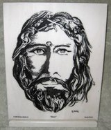 JESUS ETCHING ON MARBLE in St. Charles, Illinois