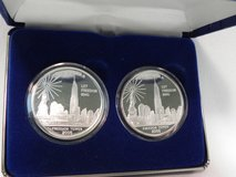 cook islands 1oz dollar 2006 proof silver-clad twin towers freedom tower 2 coins in Camp Lejeune, North Carolina