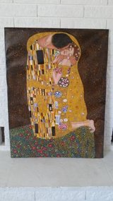 Gustav klimt The Kiss framed canvas oil painting in Yucca Valley, California