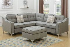 New Grey Linen with Throw Pillows Sectional FREE DELIVERY in Camp Pendleton, California