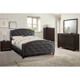 New Espresso Full Bed Frame Tufted Head + Footboard FREE DELIVERY in Camp Pendleton, California