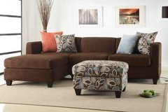 Chocolate Microfiber Sectional w/ Pillows FREE DELIVERY in Camp Pendleton, California