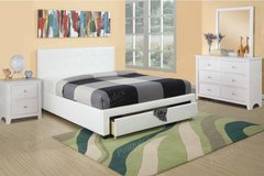 White FULL or QUEEN Size Storage Bed Frame FREE DELIVERY in Camp Pendleton, California