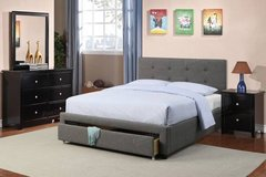 New FULL or QUEEN size Charcoal Tufted Storage Bed Frame DELIVERY in Camp Pendleton, California