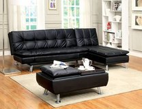 New Leatherette Sofa Futon Bed and Ottoman  FREE DELIVERY in Camp Pendleton, California