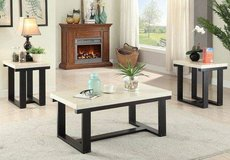 Marble Finish Coffee Table and 2 End Tables Set FREE DELIVERY in Camp Pendleton, California