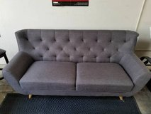 Carin Gray Charcoal Brown Linen Fabric Sofa FREE DELIVERY in Camp Pendleton, California